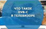 Что такое DVB-C в телевизоре