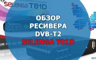 Телевизионная приставка Selenga T81D: характеристики, описание