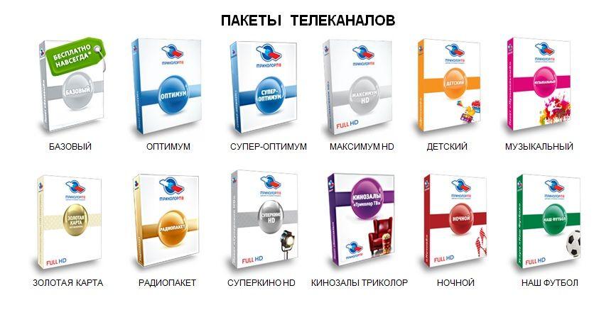 Популярные пакеты для подключения от Триколор ТВ