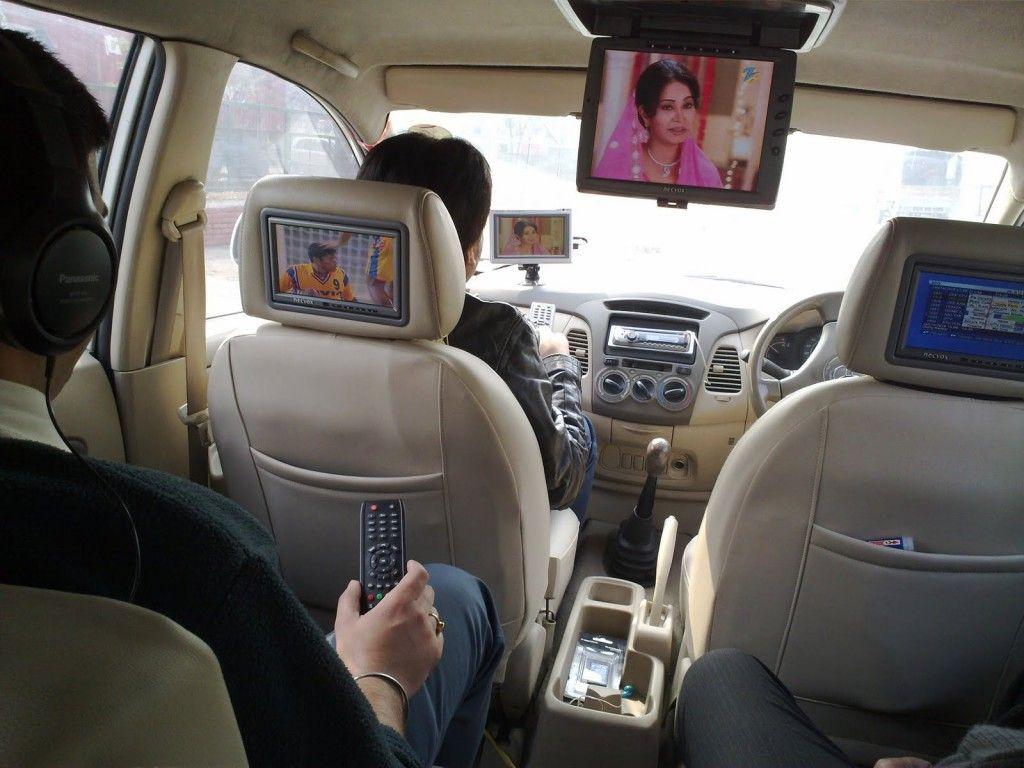 Телевизоры в подголовниках и на потолке