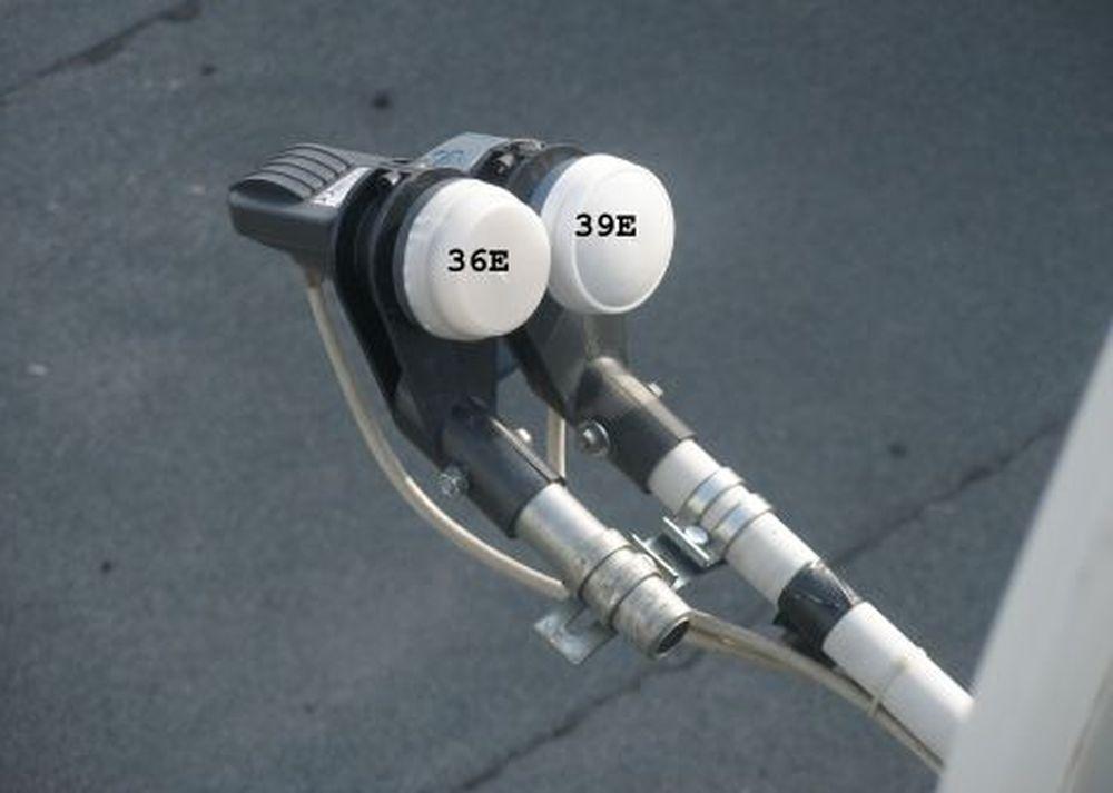 2 конвертера на антенне