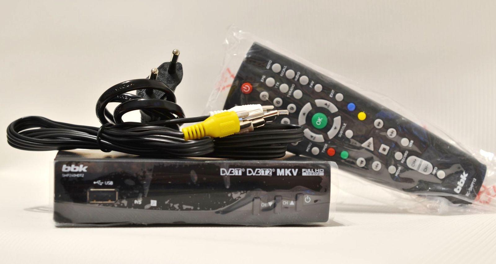 ТВ-тюнер BBK SMP240HDT2 комплектность