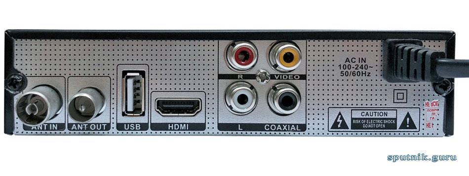 Телевизионная приставка Oriel-421 вид сзади